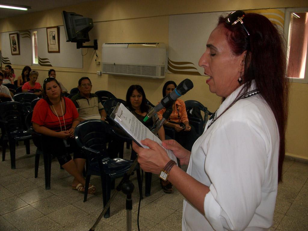 Acto de constitución de la Cátedra Celia Sánchez Manduley efectuado en la sede de igual nombre de la Universidad de Holguín el 10 de mayo de 2016. UHO FOTO/Luis Ernesto Ruiz Martínez.