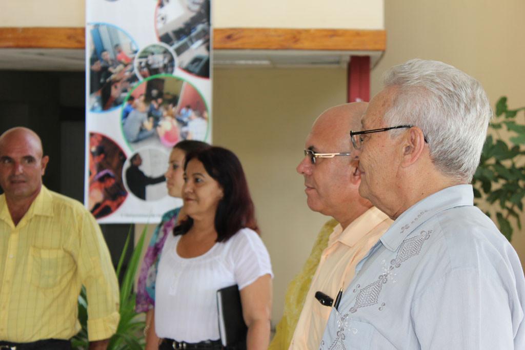 El Dr.C Rodolfo Alarcón, ministro de Educación Superior realizó un intercambio con estudiantes y profesores de la Universidad de Holguín. Desarrollado en la sede Celia Sánchez Manduley, el 14 de junio de 2016. Foto:Torralbas