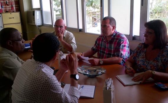 Funcionarios de la Embajada de Angola en Cuba conocieron detalles de la formación de los estudiantes angolanos en el centro. Desarrollado en la sede Oscar Lucero Moya, el 15 de noviembre de 2016-UHO/Foto: Yudith Rojas Tamayo