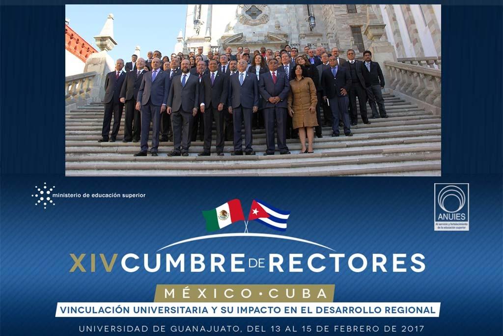 XIV Cumbre de Rectores México-Cuba, desarrollada en Guanajuato.
