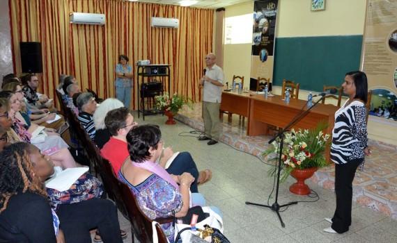 """Seminario científico """"Encuentro entre educadores cubanos y norteamericanos"""". UHO FOTO/Luis Ernesto Ruiz Martínez-DIRCOM."""