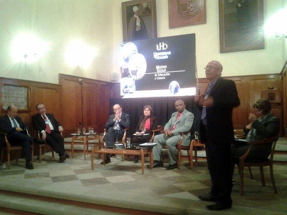 El Dr. C. Reynaldo Velázquez Zaldívar, Rector, presenta experiencias de Medio Siglo de Educación y Ciencia en la UHO.