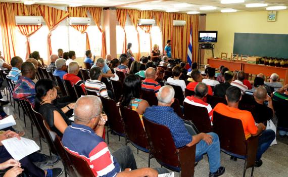XXIII Taller Regional de la Educación Patriótica Militar e Internacionalista (EMPI) desarrollado en la Universidad de Holguín. UHO FOTO/Luis Ernesto Ruiz Martínez.