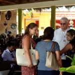 Delegados intercambian en el evento. UHO FOTO/ Torralbas.