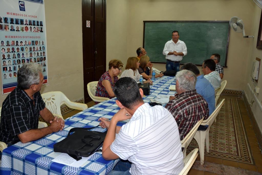 Proceso de evaluación externa a la Maestría en Dirección. Visita a la Sede de la ANEC el 18 de mayo de 2017. UHO FOTO/Luis Ernesto Ruiz Martínez
