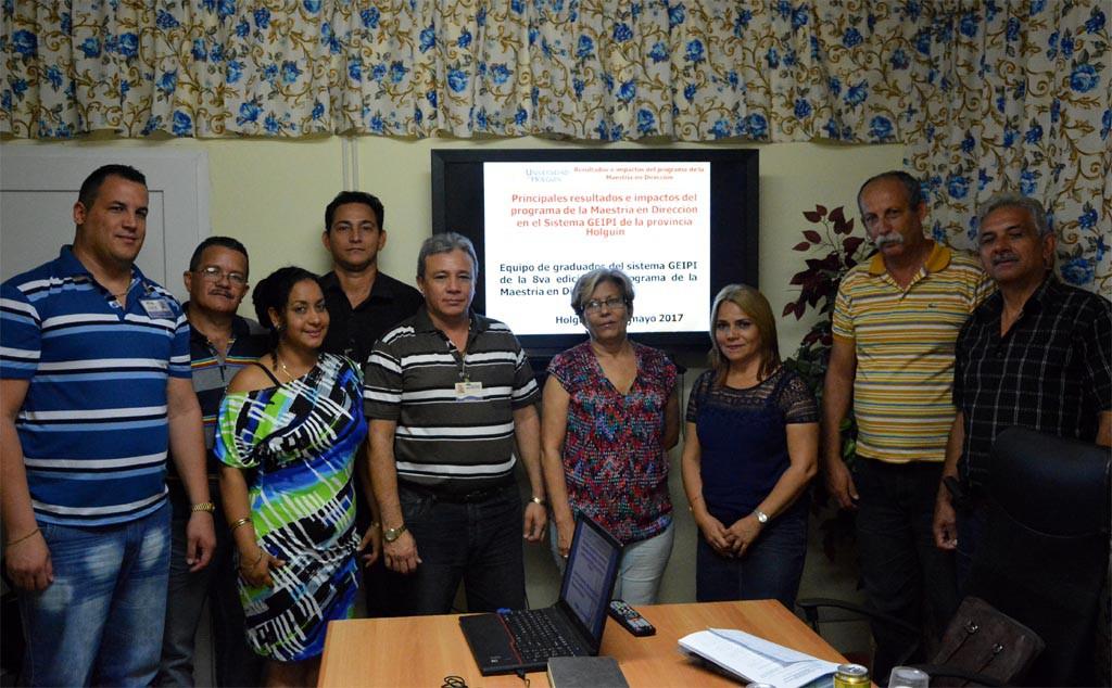 Proceso de evaluación externa a la Maestría en Dirección. Intercambio con directivos de las empresas Raudal y Caude. UHO FOTO/Luis Ernesto Ruiz Martínez
