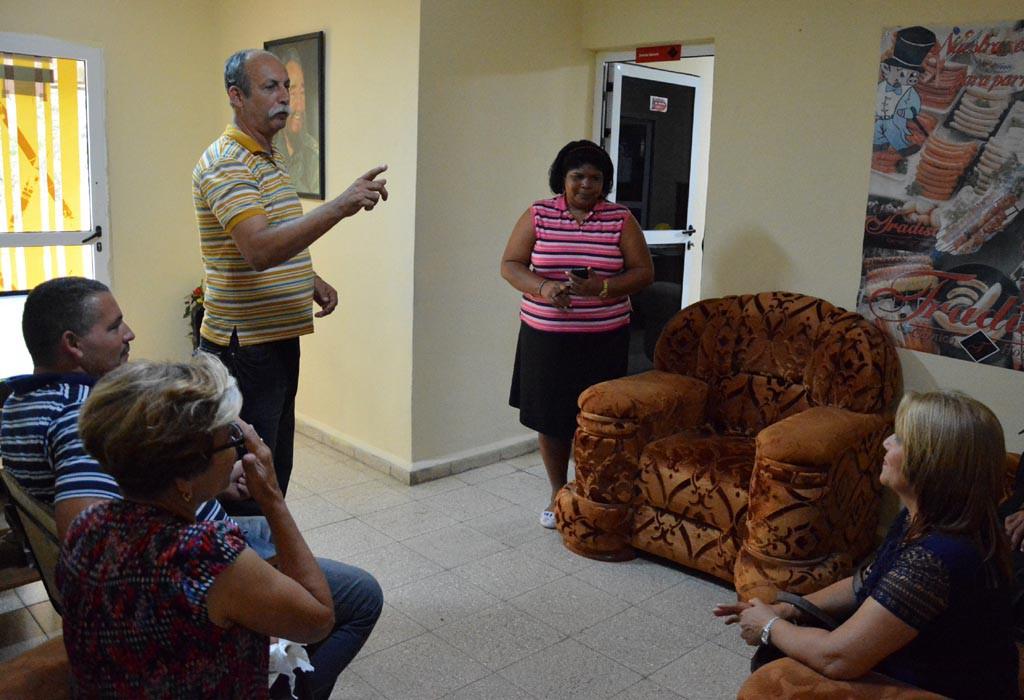 Proceso de evaluación externa a la Maestría en Dirección. Visita a la Empresa Cárnica Tradisa. UHO FOTO/Luis Ernesto Ruiz Martínez