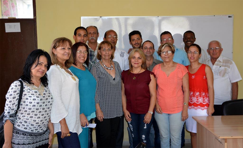 Conclusiones de la evaluación externa a la Maestría en Dirección. Efectuada con la presencia de profesores y directivos de la Universidad de Holguín, el 19 de mayo de 2017. UHO FOTO/Luis Ernesto Ruiz Martínez