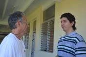 El apoyo de su familia, especialmente, de su papá, ha sido muy importante en los buenos resultados de Carlos. Desarrollado en la sede Oscar Lucero Moya, el 23 de mayo de 2017. Foto/UHo: Yudith Rojas Tamayo