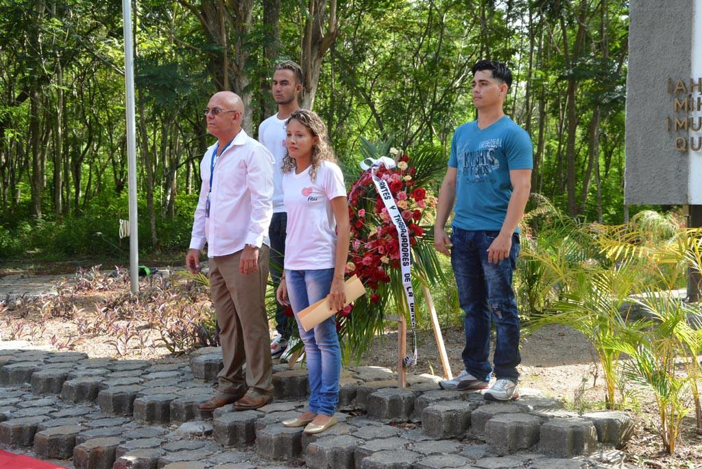 Acto de inicio del curso escolar 2017-2018 en la Universidad de Holguín. Efectuado en el Monumento a Lucía Iñíguez en la Plaza de la Revolución. UHO FOTO/Luis Ernesto Ruiz Martínez.
