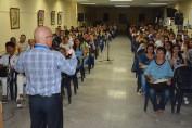Comienzan los intercambio que cada año sostiene el Dr. C. Reynaldo Velázquez Zaldívar, Rector de la Universidad de Holguín, con estudiantes de nuevo ingreso de las diferentes carreras. UHO FOTO/Luis Ernesto Ruiz Martínez.