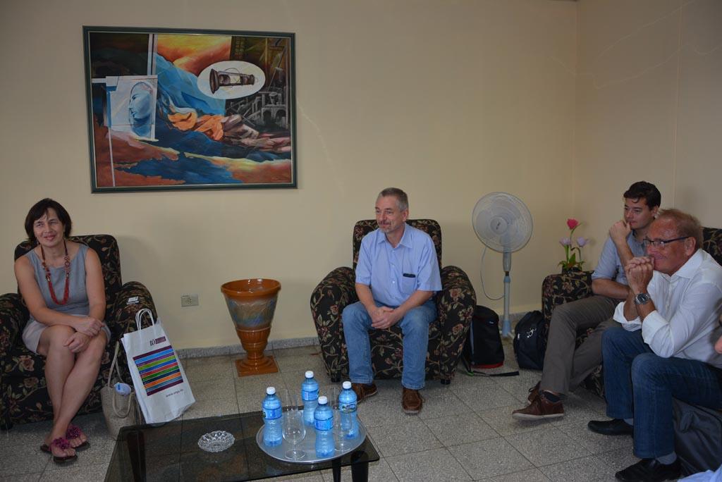 Delegación alemana de la Otto von Guericke Universität Magdeburg visita la Universidad de Holguín. Sede Celia Sánchez Manduley, 23 de octubre de 2017. UHO FOTO/Heidi Marlen Viguera Ferras.