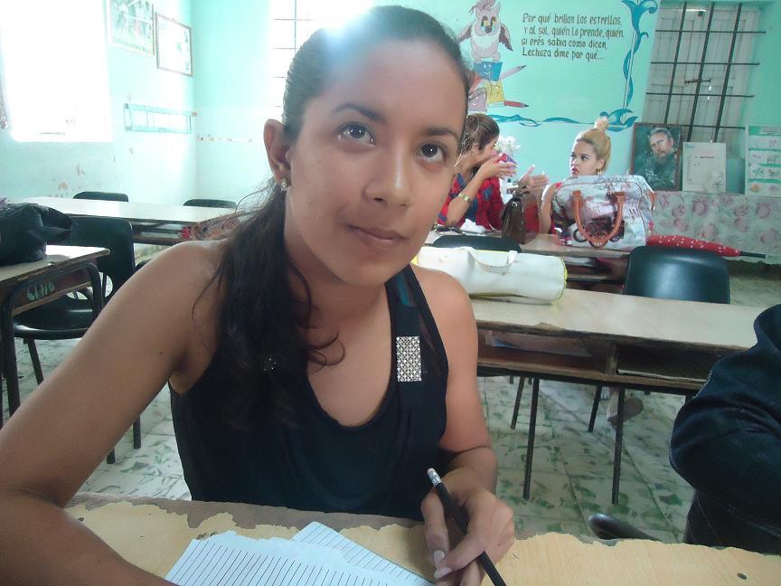 Silvia García Batista, estudiante de segundo año de licenciatura en primaria. Foto/Liliam Rodríguez