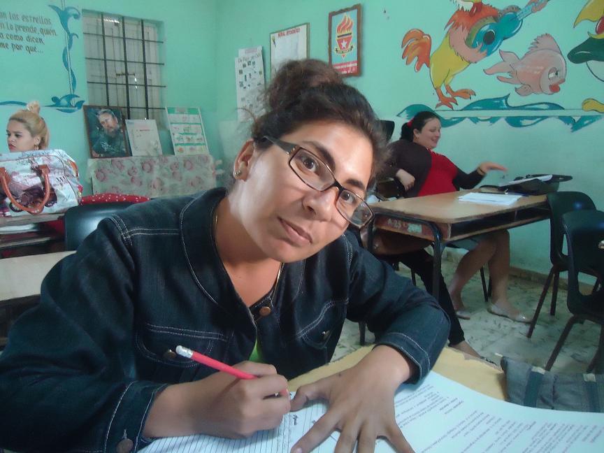 Yarelis Cordero González, estudiante de Licenciatura en Educación primaria. Foto/Liliam Rodríguez