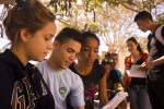 Nuestros estudiantes hacen suya la cotidianidad universitaria. Universidad de Holguín. Foto/Torralbas