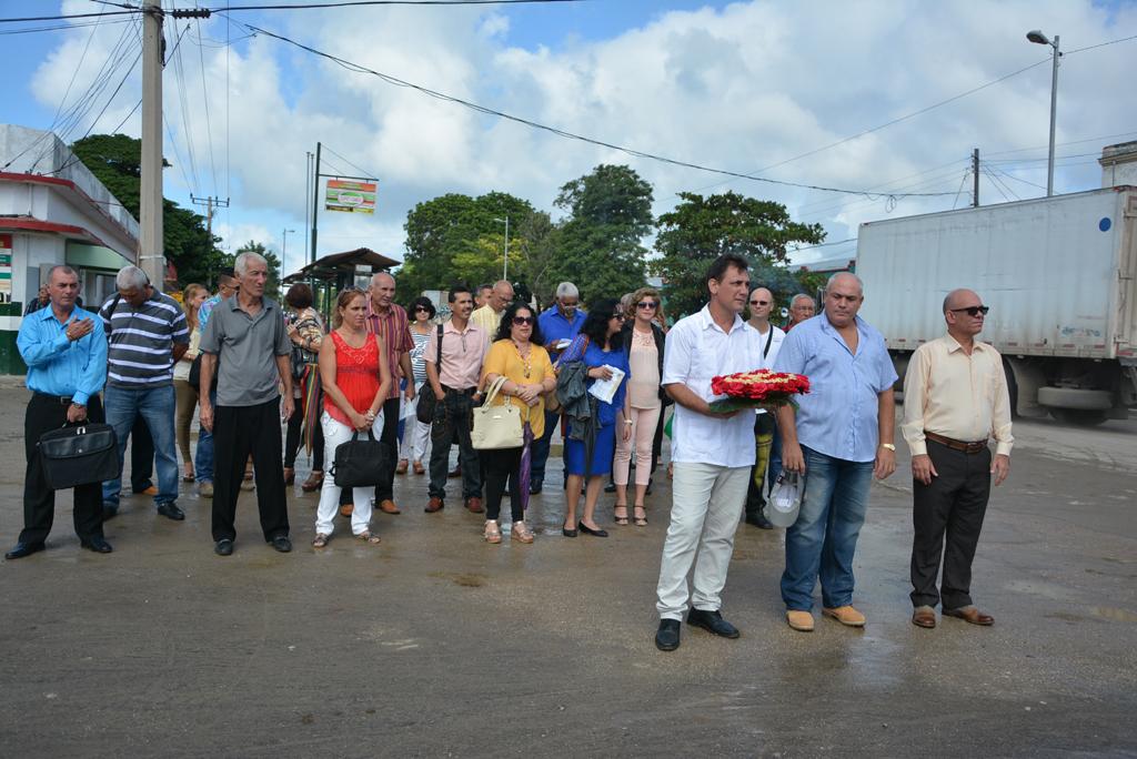 Homenaje a Calixto García, General cubano de las tres guerras y cuyo nombre lleva el Centro Universitario Municipal. Desarrollado en el municipio de Calixto García, el 18 de noviembre de 2017. Foto/UHo: Yudith Rojas Tamayo