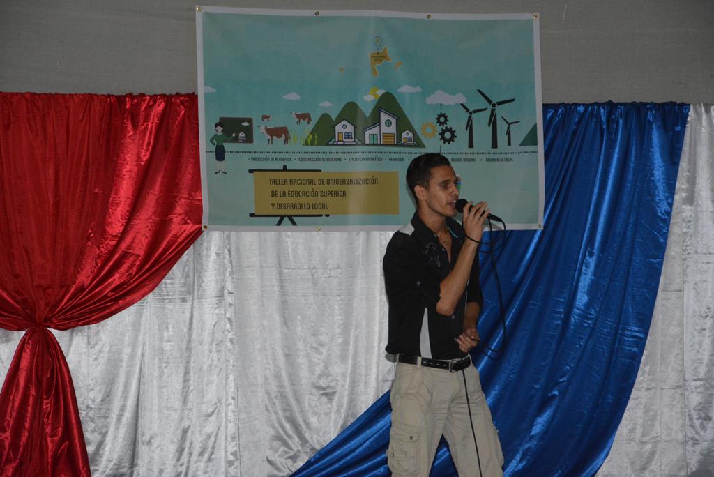 Talento artístico que amenizó diferentes momentos del evento. Desarrollado en el municipio de Calixto García, el 18 de noviembre de 2017. Foto/UHo: Yudith Rojas Tamayo