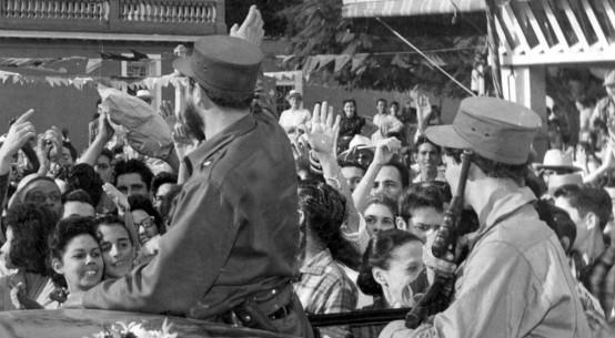 Recorrido de Fidel por Pinar del Rìo, enero 1959. Foto: Archivo del periódico Guerrillero.