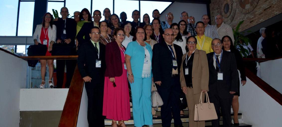 Delegación de la Universidad de Holguín que participó en el Onceno Congreso Internacional Universidad 2018. UHO FOTO/Yani Martínez.