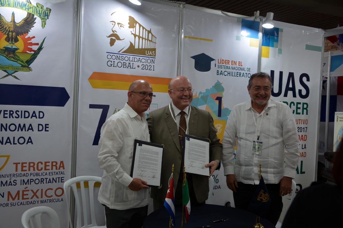 La Universidad de Holguín ratificacó el convenio con la Universidad de Sinaloa México. Congreso Internacional Universidad 2018. UHO FOTO/Yani Martínez.