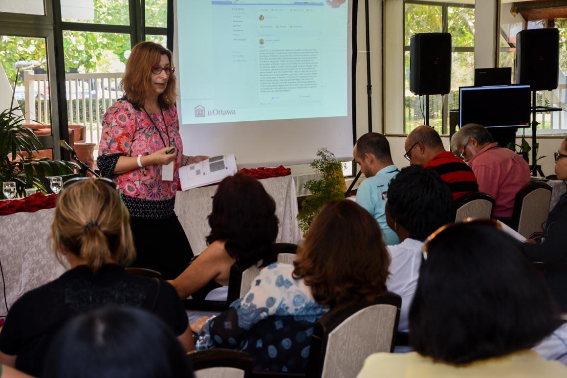 Conferencia de Monika Jezak en la primera jornada de Wefla 2018. UHo FOTO/ Torralbas.