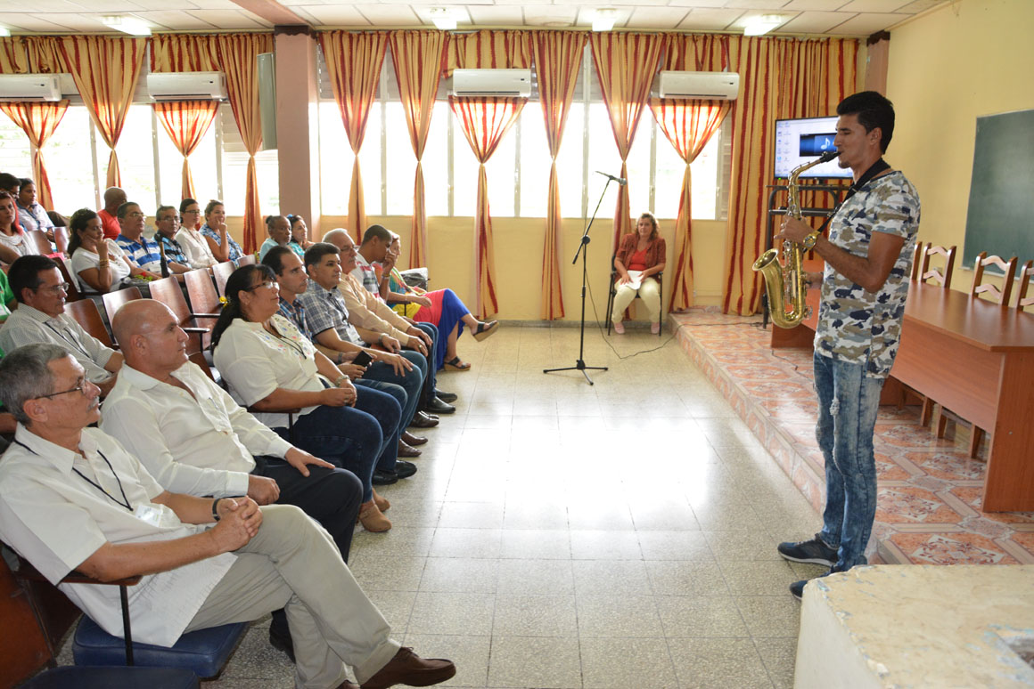 Apertura del VIII Evento Nacional de Formación laboral e investigaciones educativas, organizado por la  Universidad de Holguín, que sesiona en la sede José de la Luz y Caballero  UHo FOTO/Luis Ernesto Ruiz Martínez.