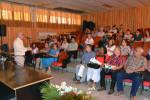 El Dr. C. Reynaldo Velázquez Zaldívar, Rector de la UHo, además de dar la bienvenida oficial a la institución, ofrece detalles a los expertos durante la apertura del proceso de evaluación externa de la Maestría en Educación Matemática Universitaria, efectuada en la sede Oscar Lucero Moya, el 25 de junio de 2018. UHO FOTO/Luis Ernesto Ruiz Martínez.