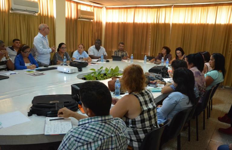 Presentación del Dr. C. Reynaldo Velázquez Zaldívar, Rector de la Universidad de Holguín. Martes 28 de agosto de 2018. UHO FOTO/Luis Ernesto Ruiz Martínez.