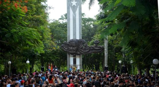 Acto de inicio del curso escolar 2018-2019 en la Universidad de Holguín. Efectuado en el Monumento a Lucía Iñíguez en la Plaza de la Revolución, el lunes 3 de septiembre de 2018. UHo FOTO/Luis Ernesto Ruiz Martínez.