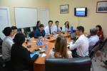 Autoridades de la Universidad Jiaotong de Lanzhou intercambian con directivos de la Universidad de Holguín..Sede Celia Sánchez Manduley, 12 de octubre de 2018. UHO FOTO/Luis Ernesto Ruiz Martínez.