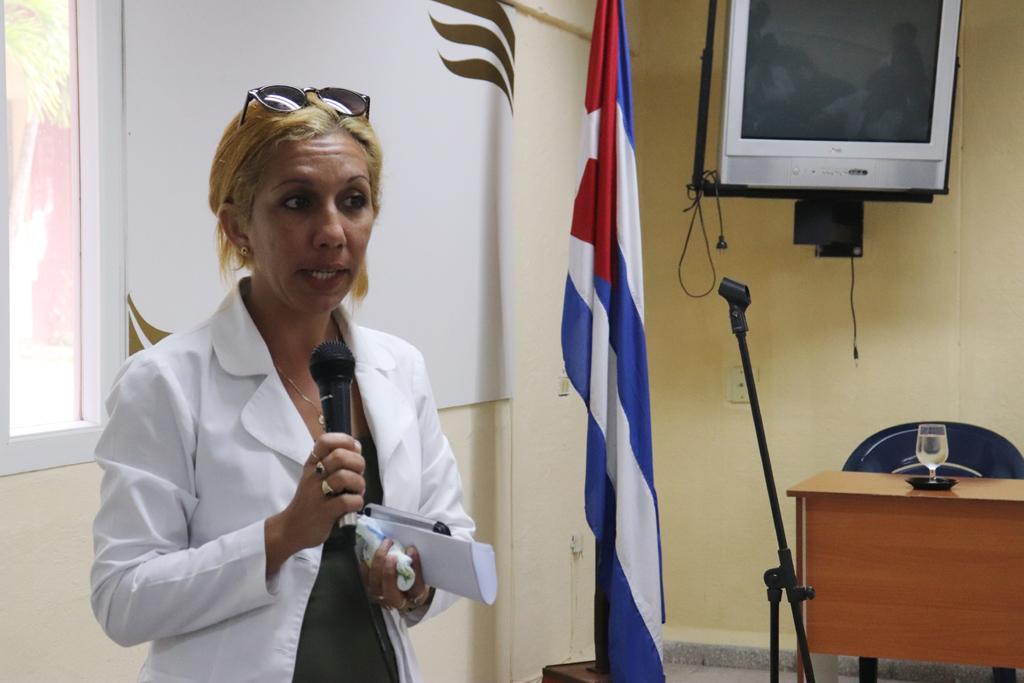 Aloniuska Machín Fernández, Jefa de Salud Mental provincial. Desarrollado en la sede Celia Sánchez Manduley, el 08 de octubre de 2018-UHO/Foto: Yudith Rojas Tamayo