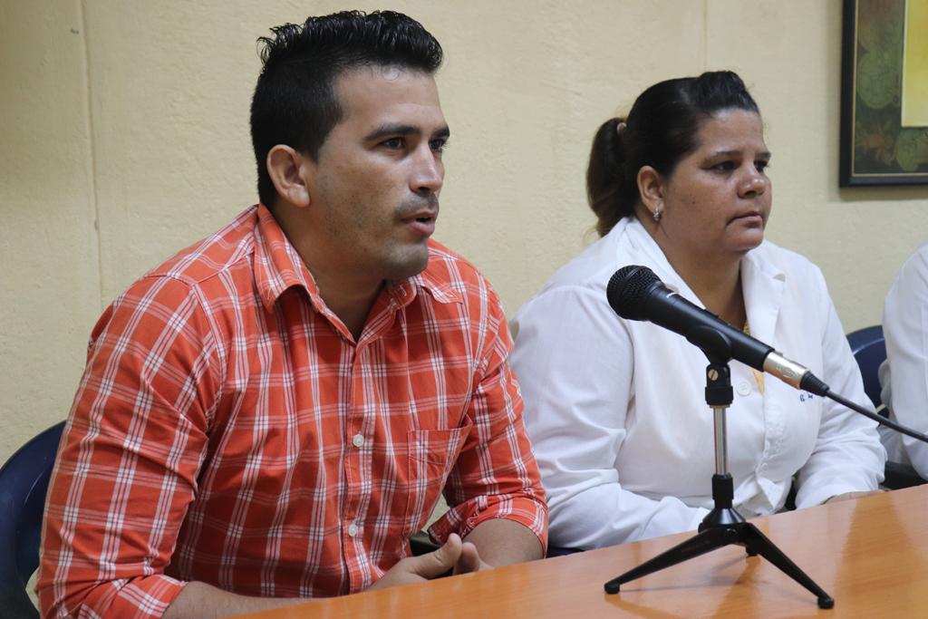 Yadian Pupo Mendoza compartió sus experiencias en el municipio de Banes, en el tratamiento a los familiares de las víctimas. Desarrollado en la sede Celia Sánchez Manduley, el 08 de octubre de 2018-UHO/Foto: Yudith Rojas Tamayo