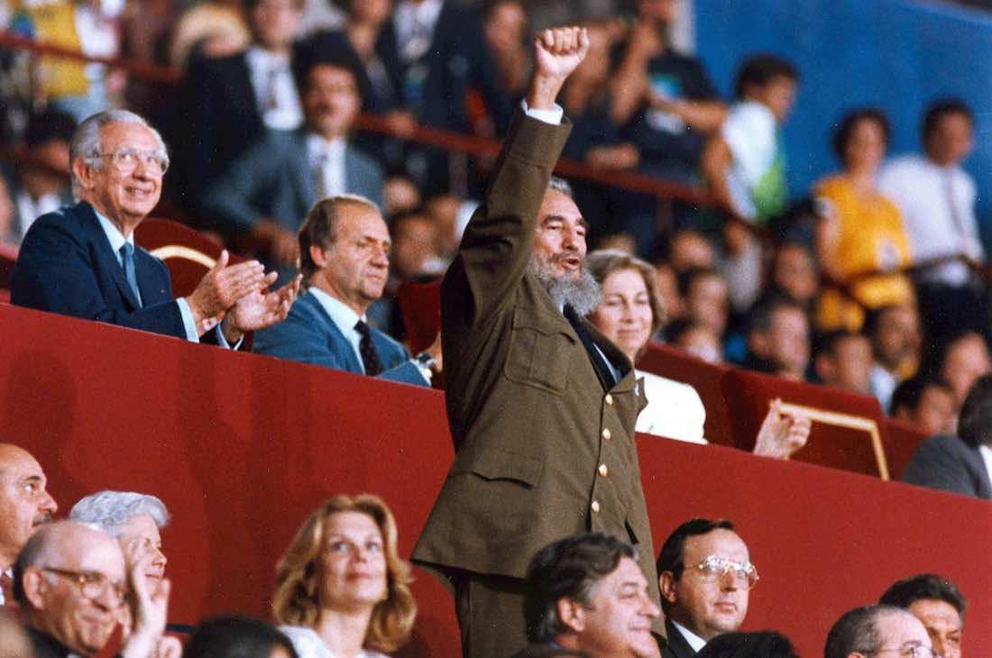 Ceremonia inaugural de los XXV Juegos Olímpicos de Barcelona. Estadio de Montjuic, Barcelona, España, 25 de julio de 1992