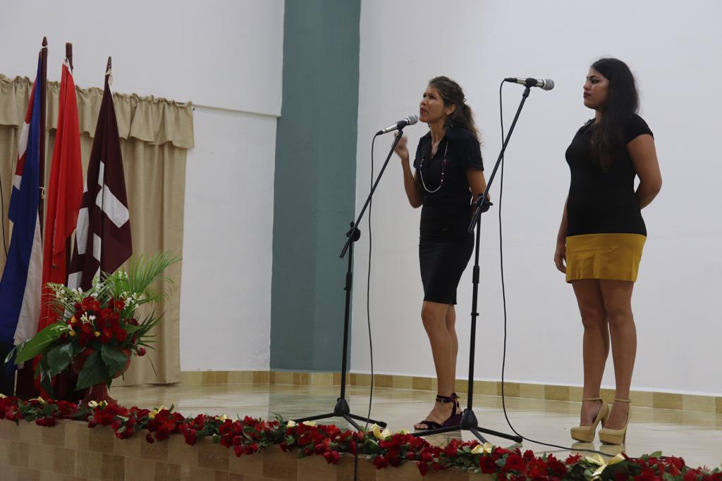 Una Gala Artística fue preparada como homenaje al Líder Histórico Fidel Castro, cuando se acerca el segundo aniversario de su desaparición física. Desarrollado en la sede José de la Luz y Caballero, el 23 de noviembre de 2018-UHO/Foto: Yudith Rojas Tamayo