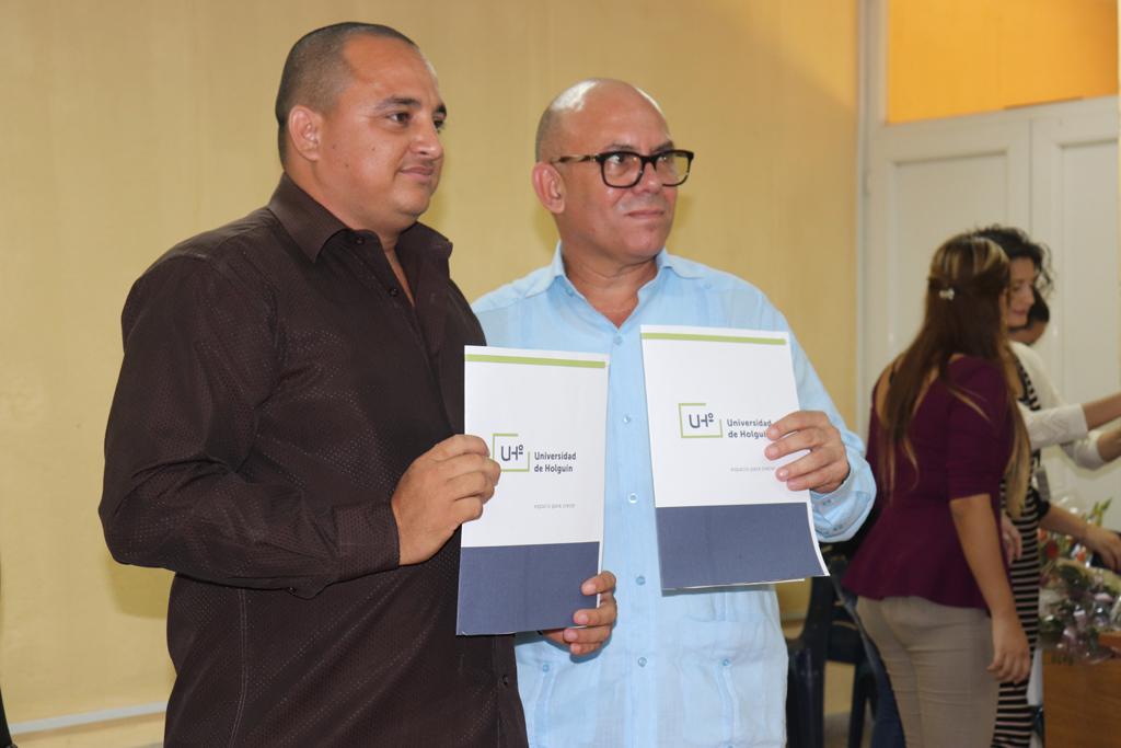 Firma de convenio marco de colaboración con la Delegación Provincial del CITMA. Desarrollado en la sede Celia Sánchez Manduley, el 01 de noviembre de 2018-UHO/Foto: Yudith Rojas Tamayo