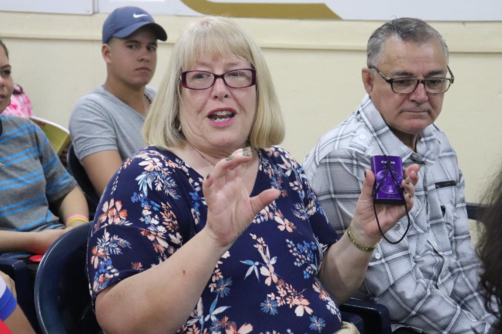 """Encuentro con la Brigada de solidaridad canadiense con Cuba """"Calixto García"""", en el XIII aniversario de la Cátedra de Estudios Canadienses de la UHo. Desarrollado en la sede Celia Sánchez Manduley, el 30 de noviembre de 2018-UHO/Foto: Yudith Rojas Tamayo"""