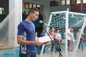 Abanderada delegación holguinera a la competición Universiada 2019 a desarrollarse en Villa Clara. Desarrollado en la sede Manuel Fajardo, el 02 de abril de 2019-UHO/Foto: Yudith Rojas Tamayo