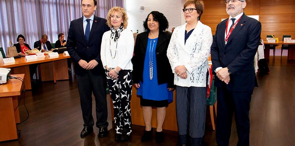 Martha del Carmen Mesa Valenciano, Viceministra Primera del Ministerio de Educación Superior, encabeza la delegación cubana al encuentro. Foto tomada de Twitter.