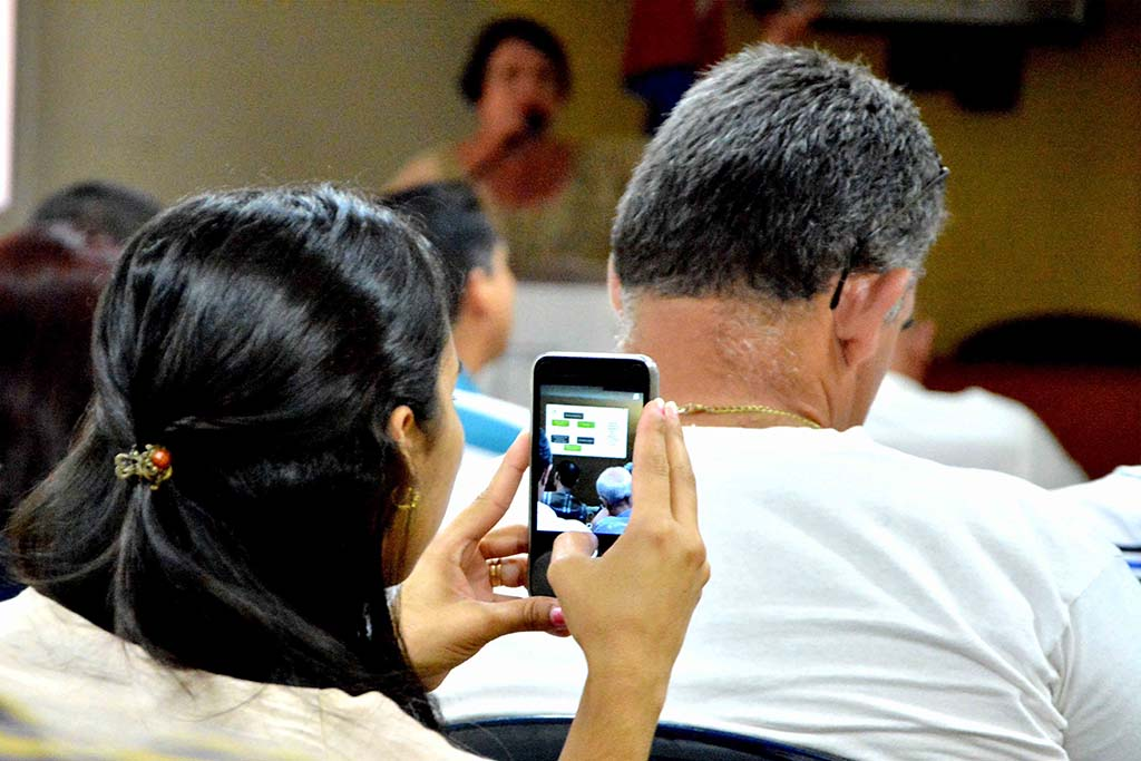 Representantes de 20 empresas y entidades del territorio participaron en el Primer Taller Universidad-Empresa, desarrollado en la sede Celia Sánchez Manduley, de la Universidad de Holguín, el 17 de julio de 2019. UHo FOTO/Luis Ernesto Ruiz Martínez.
