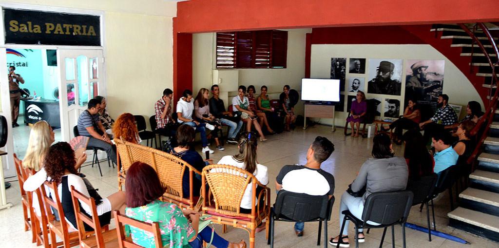 Primer Coloquio de Relaciones Públicas, organizado por la Asociación de Comunicadores Sociales y la Dircom de la Universidad de Holguín, en la Sala Patria, el 26 de septiembre de 2019. UHo FOTO/Luis Ernesto Ruiz Martínez.