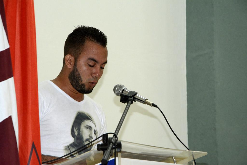 Manuel Pérez Almenares, Secretario de la Unión de Jóvenes Comunistas en la Universidad de Holguín. UHo FOTO/Luis Ernesto Ruiz Martínez.