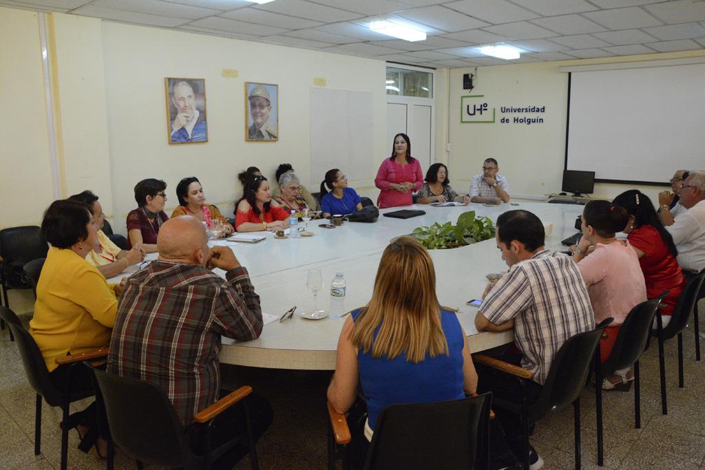 Proceso de evaluación externa al Doctorado en Pedagogía, desarrollado en la sede José de la Luz y Caballero, del 18 al 22 de noviembre de 2019. UHo FOTO/Luis Ernesto Ruiz Martínez.