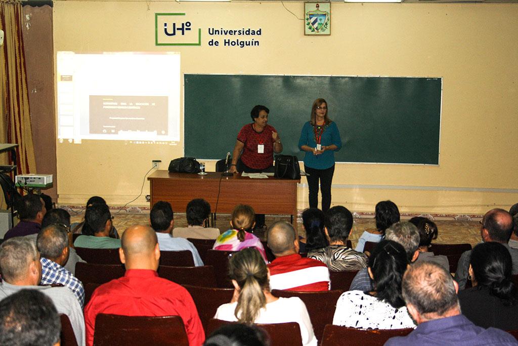 Proceso de evaluación externa al Doctorado en Pedagogía, desarrollado en la sede José de la Luz y Caballero, del 18 al 22 de noviembre de 2019. UHo FOTO/Yensy Torres Oliva.