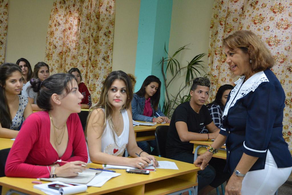 Muchas felicidades a todos los educadores en su día. Foto UHo/Yudith Rojas Tamayo