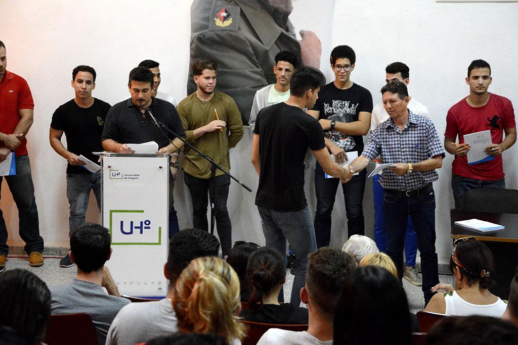 Celebran Ingeniería Informática y Licenciatura en Educación Informática, Día de la Carrera el 10 de diciembre de 2019, en la sede Oscar Lucero Moya de la Universidad de Holguín. UHo FOTO/Luis Ernesto Ruiz Martínez.