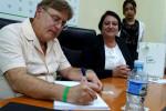 Perry John Calderwood, embajador de Canadá en Cuba, realiza visita a la Universidad de Holguín. UHo FOTO/Yusmel Pérez Figueredo.