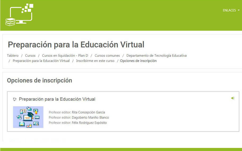 El curso, que tiene por nombre Preparación para la Educación Virtual, fue creado por un colectivo de profesores del Departamento de Tecnología Educativa y contiene elementos teóricos y prácticos