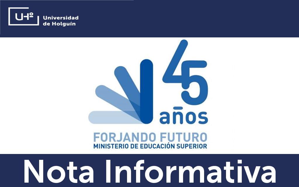Nota informativa del Ministerio de Educación Superior